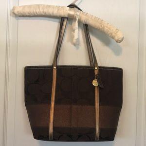 Coach H0767 Signature C STRIPE Handbag Purse Tote